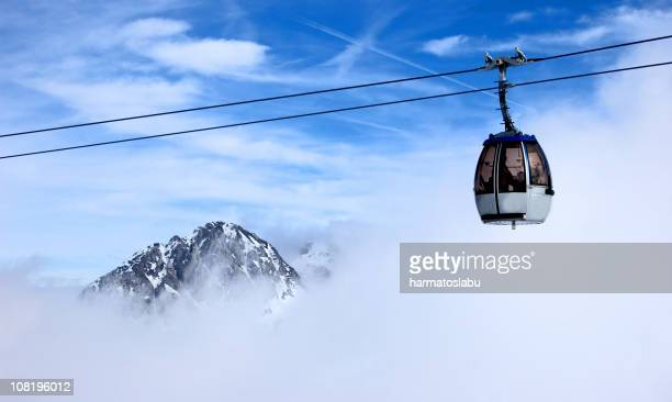 Ski Lift in Clouds