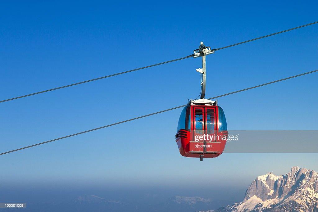 Ski lift in European Alps