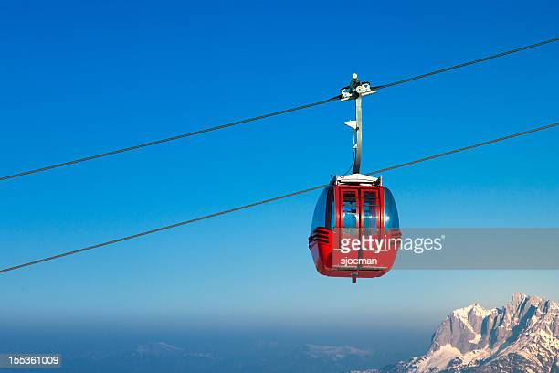 Ski lift in European Alps