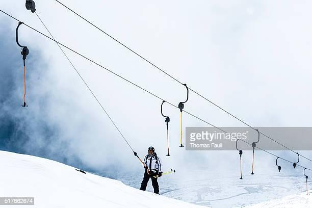 スキーリフトの雲