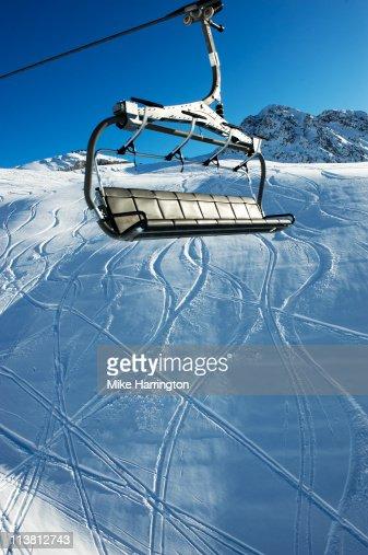Ski Lift Over La Plagne Mountains