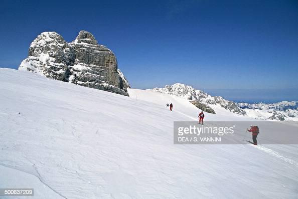 Ski mountaineering in the Schladming ski resort Hoher Dachstein Upper Austria