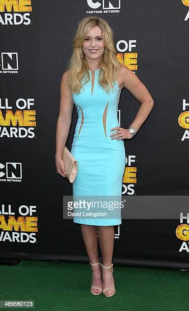 Ski racer Lindsey Vonn attends Cartoon Network's Hall of Game Awards at Barker Hangar on February 15 2014 in Santa Monica California