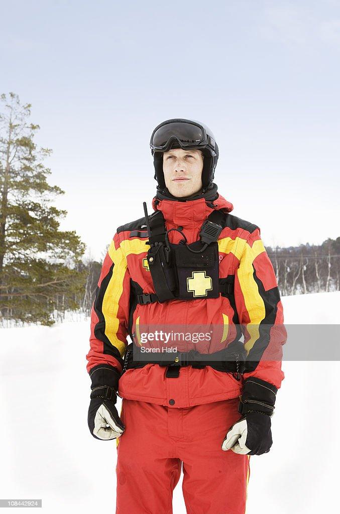 Ski Rescue : Stock Photo