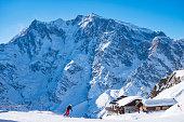 Ski resort of Macugnaga in dufourspifze area