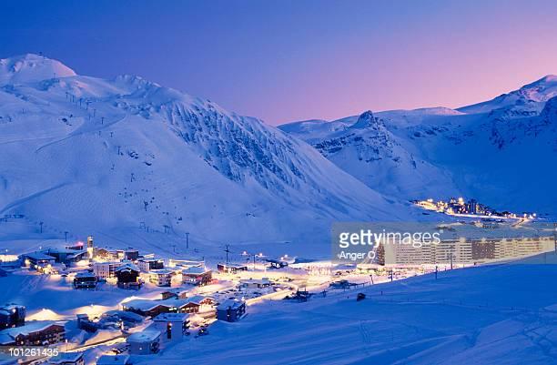 Ski resort in Rhone-Alpes, France