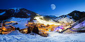 Alps skiing snowboard vacation Saalbach Hinterglemm valley