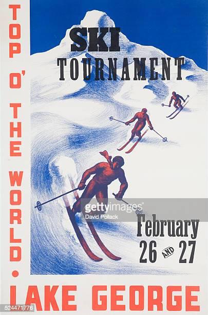 Ski Tournament Lake George Poster