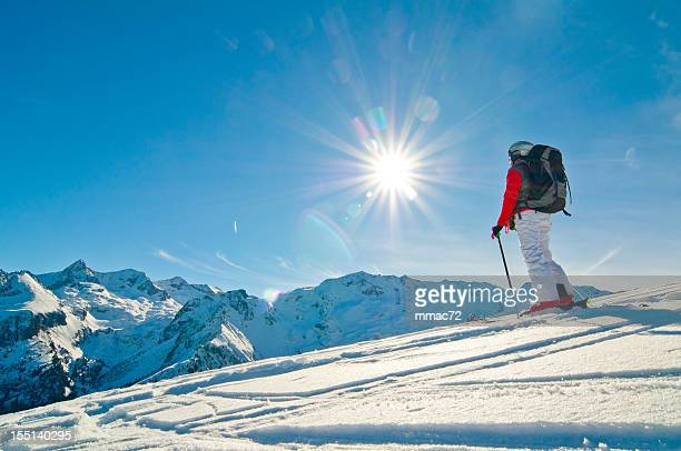Skieur spectaculaire Mountainscape