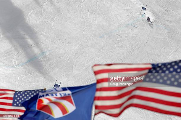 A skier descends the course at the US Ski Team Speed Center at Copper on November 15 2011 in Copper Mountain Colorado The venue is the only early...
