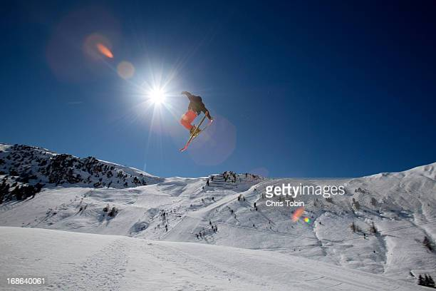 Skier doing a jump