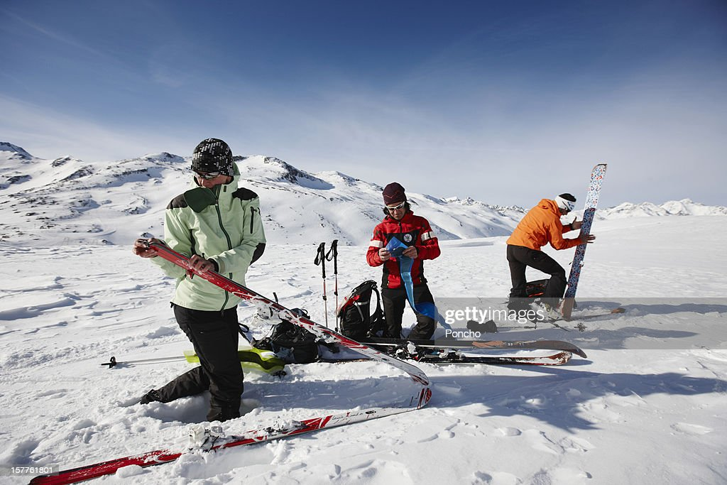 Skier downhill : Stock Photo