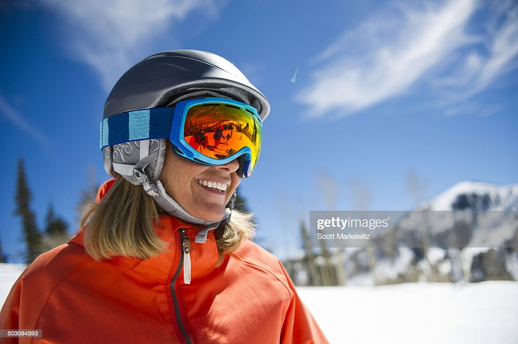 Skier enjoys the Park City mountains in Utah
