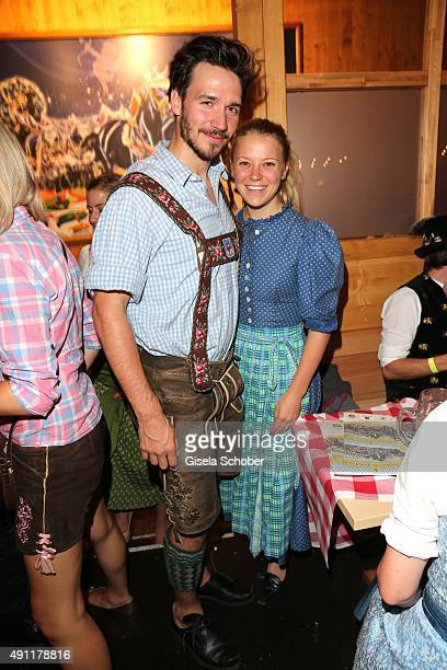 Skier Felix Neureuther and his girlfriend Miriam Goessner during the Oktoberfest 2015 at Theresienwiese on Oktober 03 2015 in Munich Germany