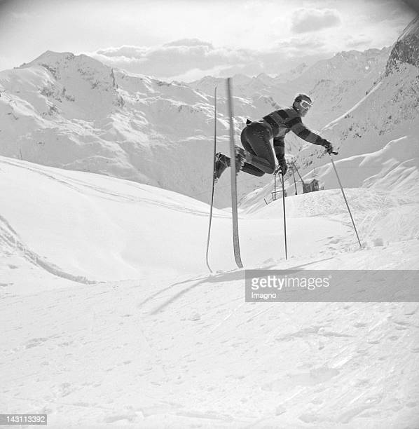 Skier in Lech am Arlberg Vorarlberg Austria Photograph 1964
