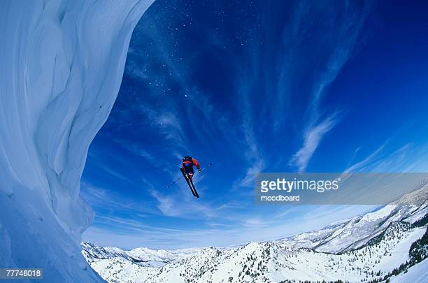 Skier in Mid-Air