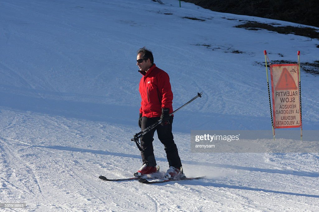 Skier in Pyrenees : Stock Photo