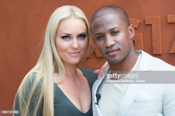 Skier Lindsey Vonn and her boyfriend Kenan Smith attend the French Tennis Open 2017 Day Thirteen at Roland Garros on June 9 2017 in Paris France