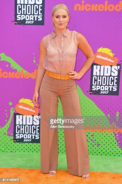 Skier Lindsey Vonn attends Nickelodeon Kids' Choice Sports Awards 2017 at Pauley Pavilion on July 13 2017 in Los Angeles California