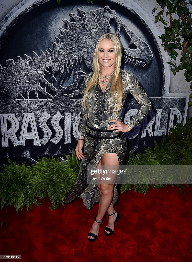 Skier <a gi-track='captionPersonalityLinkClicked' href=/galleries/search?phrase=Lindsey+Vonn&family=editorial&specificpeople=4668171 ng-click='$event.stopPropagation()'>Lindsey Vonn</a> attends the Universal Pictures' 'Jurassic World' premiere at the Dolby Theatre on June 9, 2015 in Hollywood, California.