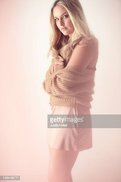 Skier Lindsey Vonn is photographed for Men's Health Magazine on March 1 2012 in New York City