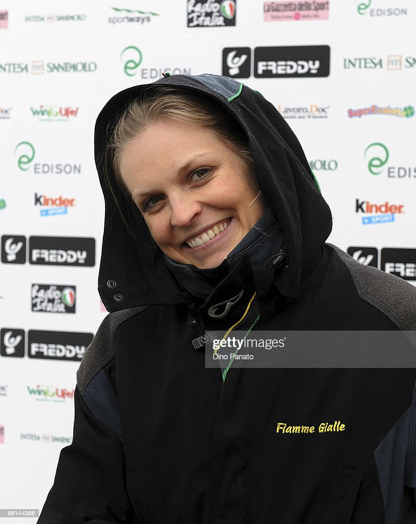 Skier <a gi-track='captionPersonalityLinkClicked' href=/galleries/search?phrase=Manuela+Moelgg&family=editorial&specificpeople=801741 ng-click='$event.stopPropagation()'>Manuela Moelgg</a> attends day one of the Italia Team Tour Event on March 30, 2010 in Corvara near Cortina d'Ampezzo, Italy.