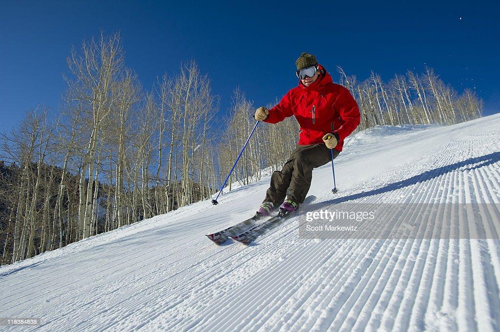 Skier, Park City, Utah. : Stock Photo