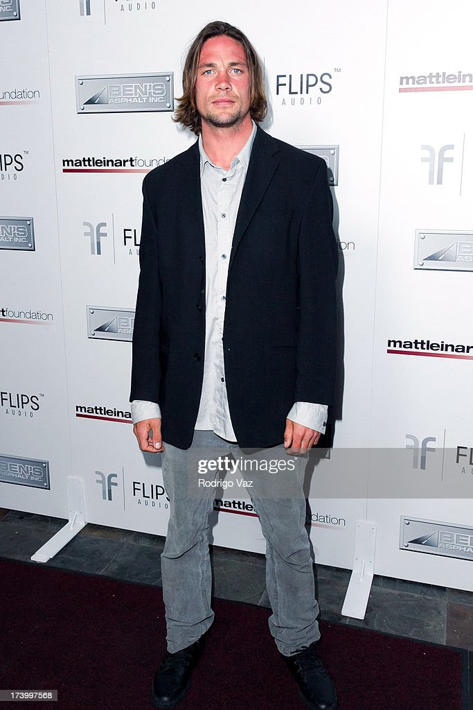 Skier Rory Bushfield arrives at the Matt Leinart Foundation's 7th Annual 'Celebrity Bowl' at Lucky Strikes on July 18, 2013 in Hollywood, California.