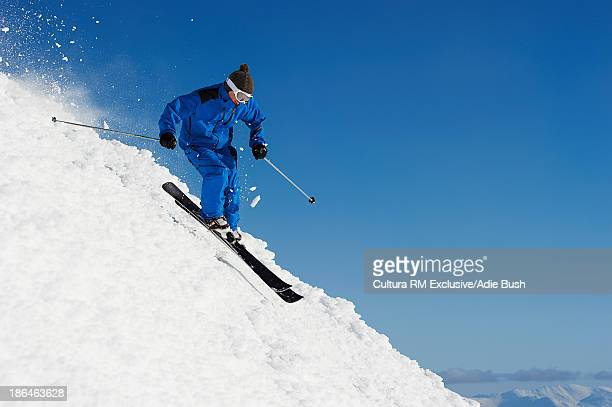 Skier skiing downhill, Are, Sweden