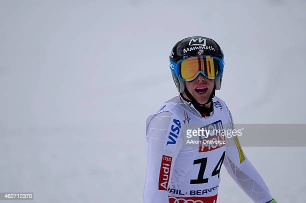 USA skier Stacey Cook competes during the the ladies' superG finals FIS Alpine World Ski Championships 2015 on Tuesday February 3 2015
