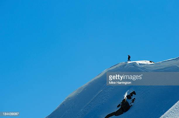 Skier standing at the top of Mountain