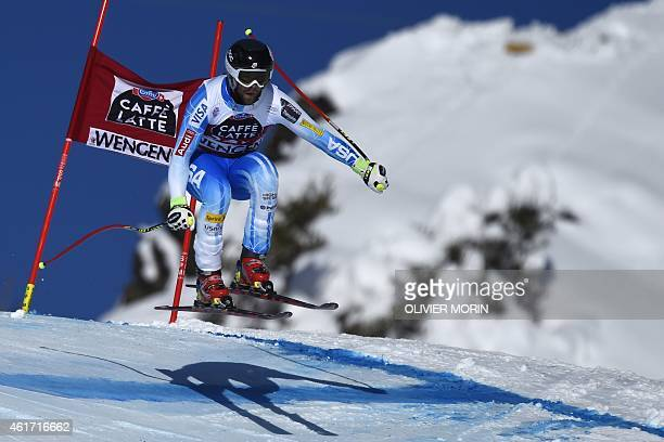 US skier Travis Ganong competes in the FIS Alpine Ski World Cup Men's Downhill in Wengen on January 18 2015 AFP PHOTO / OLIVIER MORIN