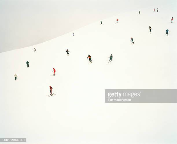 Skiers on slopes