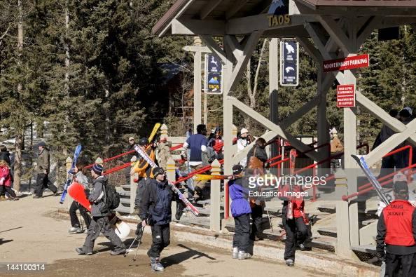 Skiers Taos New Mexico