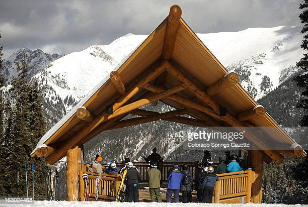 Skiiers attend the Copper Mountain Community Church at Copper Mountain Colorado on Sunday January 27 2013