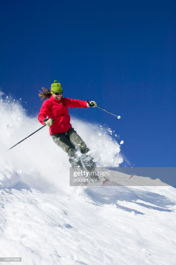 Skiing Action : Stock Photo