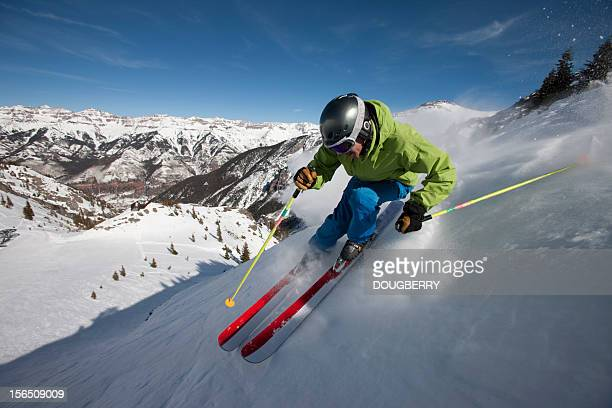 Skiing Action