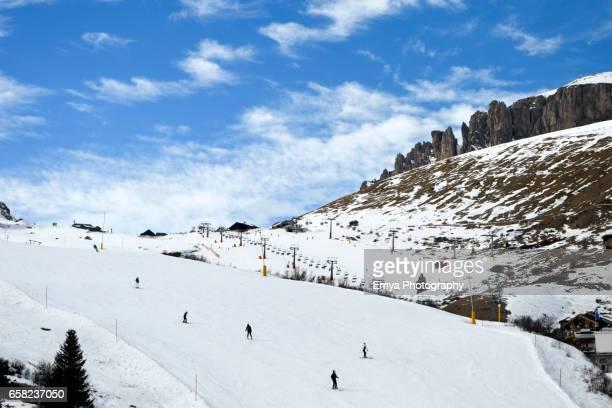Skiing at Pordoi Pass