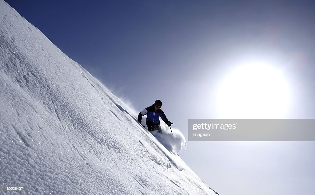 Skiing - Backcountry skiing - Extreme Skiing : Stock Photo