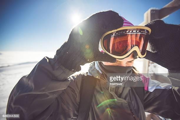 Skiing eyewear