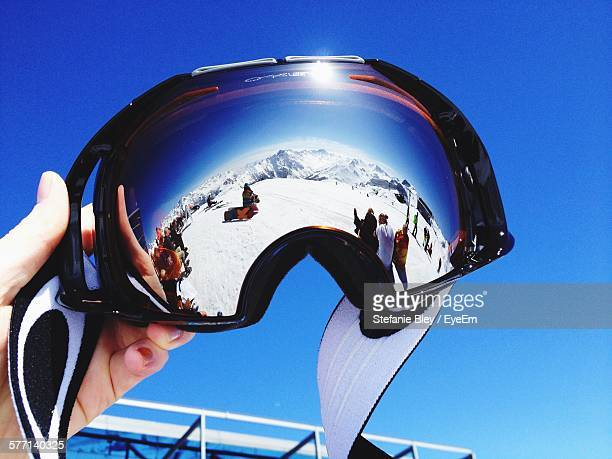 Skiing Helmet Against Clear Sky