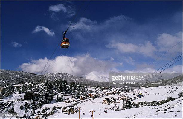 Skiing in Chile and Argentina In Buenos Aires Argentina On February 25 1991The resort of San Carlos de Bariloche by the shores of Lake Nahuel Huapi