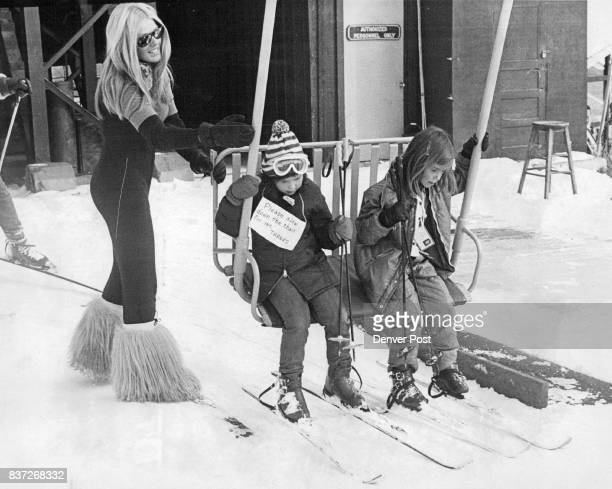 Skiing in Colorado starts early on and how about that helper Credit Denver Post PHOTO BY Duane Howell skiing children Colorado STEVESKI