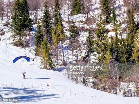 Skiing in Norway : Stock Photo