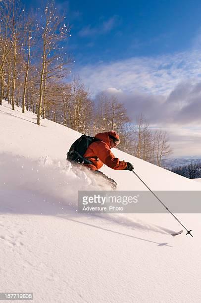 Skiing Powder Colorado