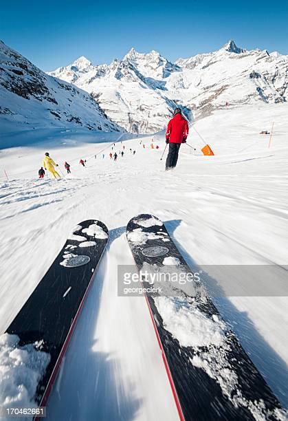Skiing Speed Exhiliration