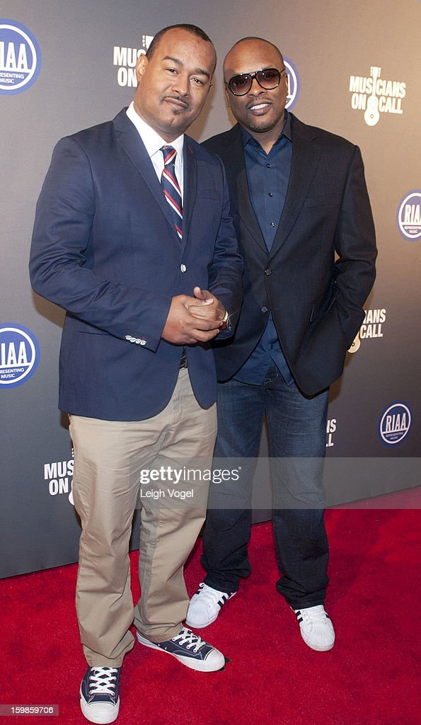 DJ Skillz and DJ <a gi-track='captionPersonalityLinkClicked' href=/galleries/search?phrase=Jazzy+Jeff&family=editorial&specificpeople=227883 ng-click='$event.stopPropagation()'>Jazzy Jeff</a> attend the RIAA Presidential Inaugural Charity Benefit at the 9:30 Club on January 21, 2013 in Washington, United States.