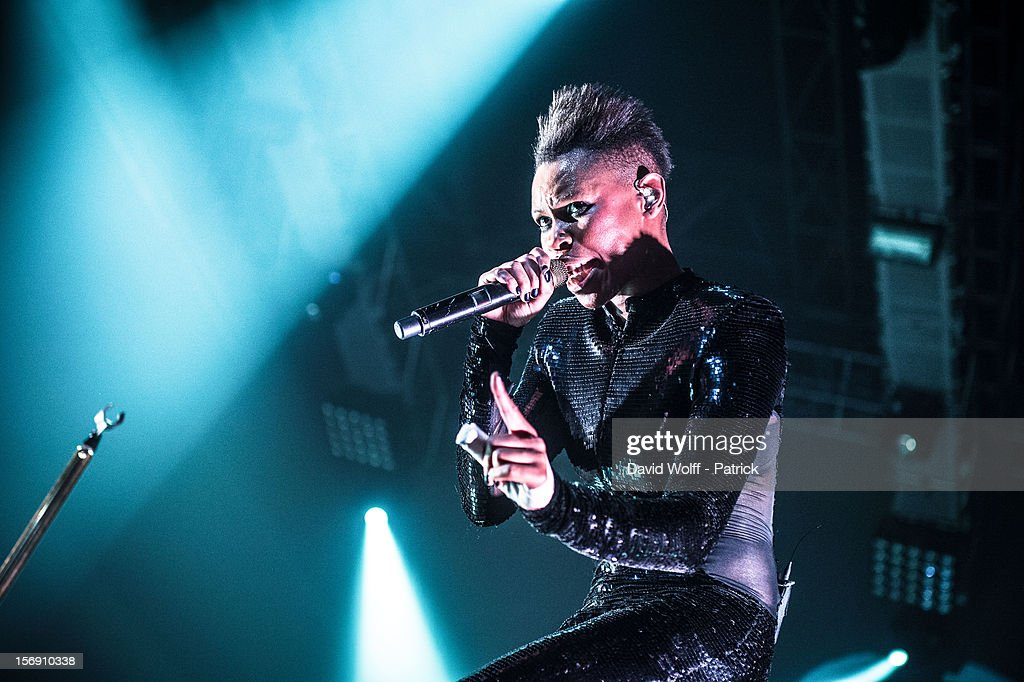 Skin from Skunk Anansie performs at Le Zenith on November 24, 2012 in Paris, France.
