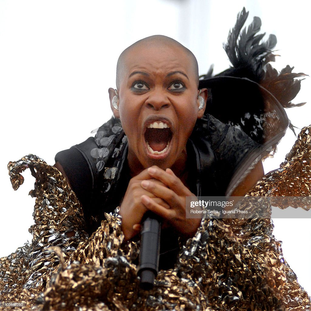 Skin the lead singer of Skunk Anansie performs at the Heineken Jammin' Festival on July 6, 2010 in Mestre, Italy.