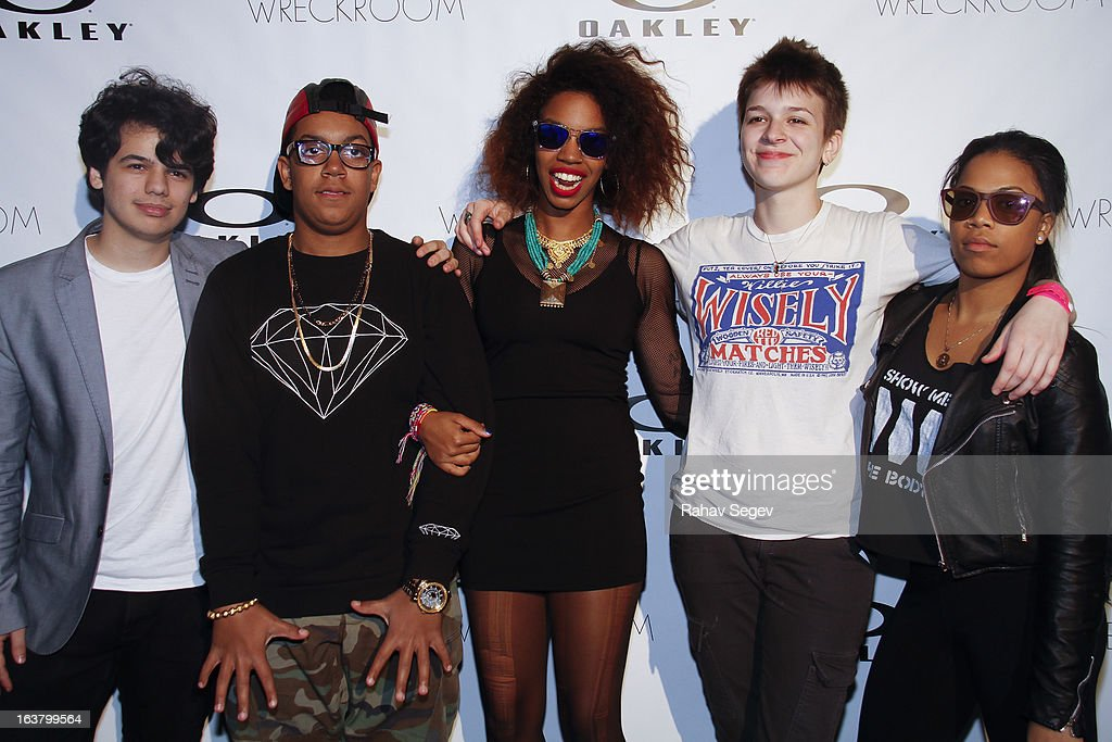 Skins attend the Oakley and Wreckroom musical presentation at The W hotel on March 15, 2013 in Austin, Texas.